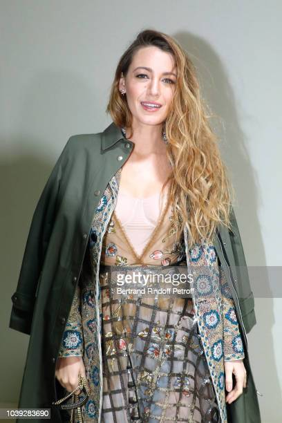 A guest arrives for the Christian Dior's SpringSummer 2019 ReadytoWear collection fashion show in Paris on September 24 2018