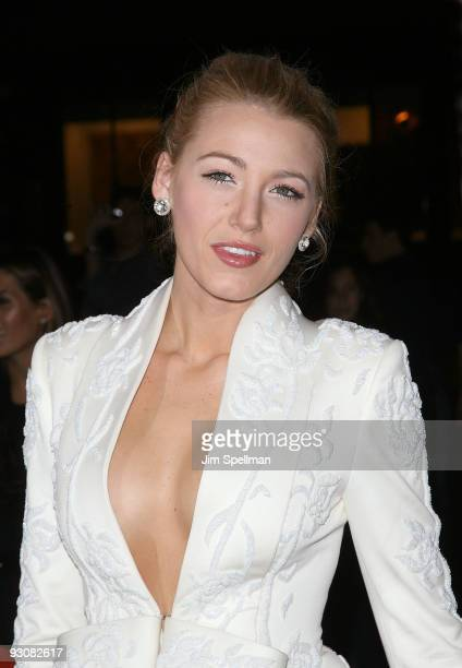 Actress Blake Lively attends The Cinema Society A Diamond Is Forever screening of The Private Lives Of Pippa Lee at AMC Loews 19th Street on November...