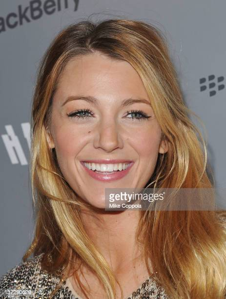 Actress Blake Lively attends the Cinema Society Blackberry Bold screening of Haywire at Landmark Sunshine Cinema on January 18 2012 in New York City