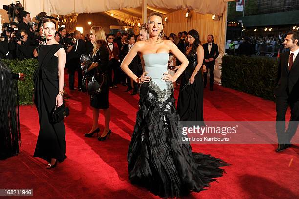 Actress Blake Lively attends the Costume Institute Gala for the 'PUNK Chaos to Couture' exhibition at the Metropolitan Museum of Art on May 6 2013 in...