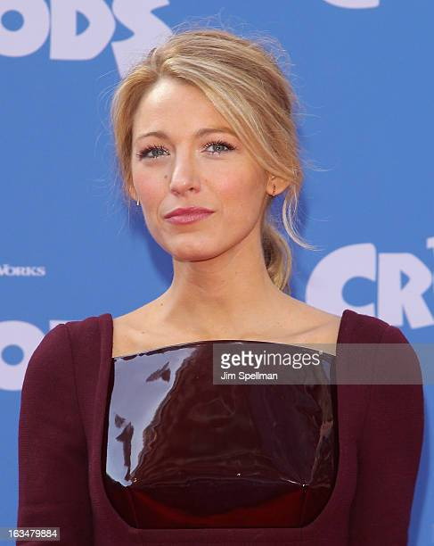 Actress Blake Lively attends The Croods premiere at AMC Loews Lincoln Square 13 theater on March 10 2013 in New York City