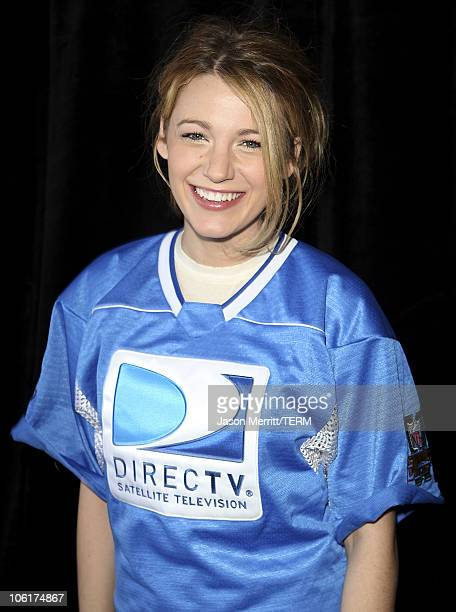Actress Blake Lively attends the Direct TV Celebrity Beach Bowl hosted by Matt Leinart at the Scottsdale Waterfront at Stetson Canal on January 31...