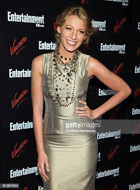 Actress Blake Lively attends the Entertainment Weekly Vavoom Annual Upfront Party at the Bowery Hotel on May 13 2008 in New York City