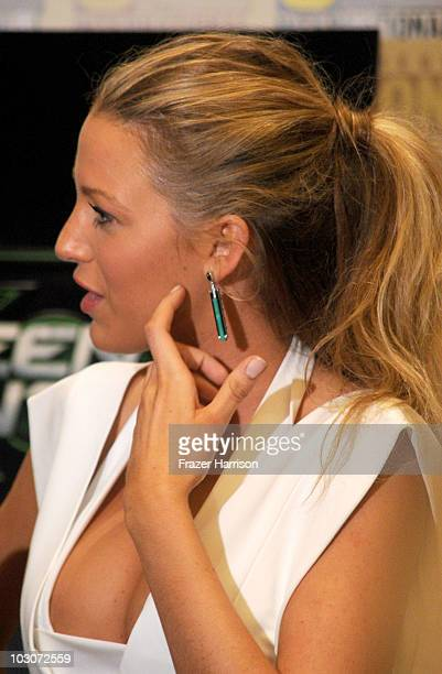 Actress Blake Lively attends the 'Green Lantern' Carpet at ComicCon 2010 on July 24 2010 in San Diego California