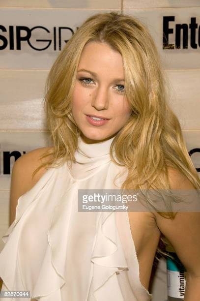 Actress Blake Lively attends the Hamptons bash hosted by Vitaminwater at the EMM Group Estate for the CW network's Gossip Girl premiering September...
