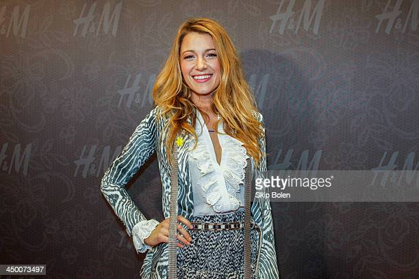 Actress Blake Lively attends the HM New Orleans Flagship Store Opening party on November 15 2013 in New Orleans Louisiana