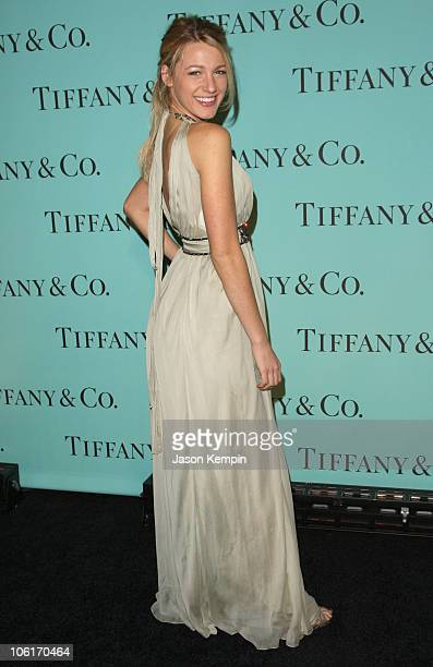 Actress Blake Lively attends the launch of the 2008 Blue Book Collection from Tiffany Co at The Museum Of Natural History on October 27 2007 in New...