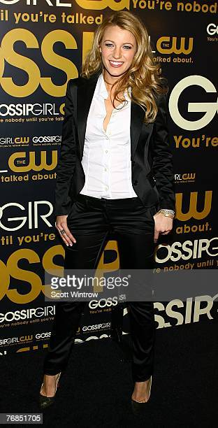 "Actress Blake Lively attends the launch party for CW Network's ""Gossip Girls"" at Tenjune on September 18, 2007 in New York City."