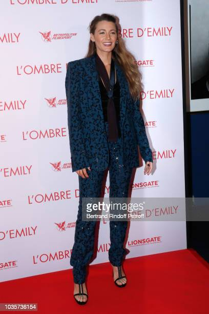 Actress Blake Lively attends the L'Ombre d'Emily A Simple Favor Paris Premiere at Cinema UGC Normandie on September 18 2018 in Paris France