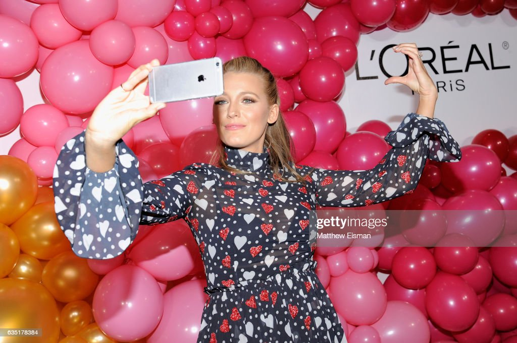 Actress Blake Lively attends the L'Oreal Paris Paints + Colorista launch event at West Edge on February 13, 2017 in New York City.