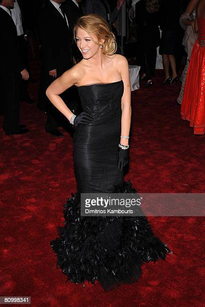Actress Blake Lively attends the Metropolitan Museum of Art Costume Institute Gala Superheroes Fashion And Fantasy at the Metropolitan Museum of Art...
