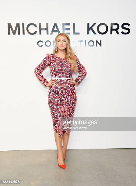 Actress Blake Lively attends the Michael Kors Collection Fall 2017 runway show at Spring Studios on February 15 2017 in New York City