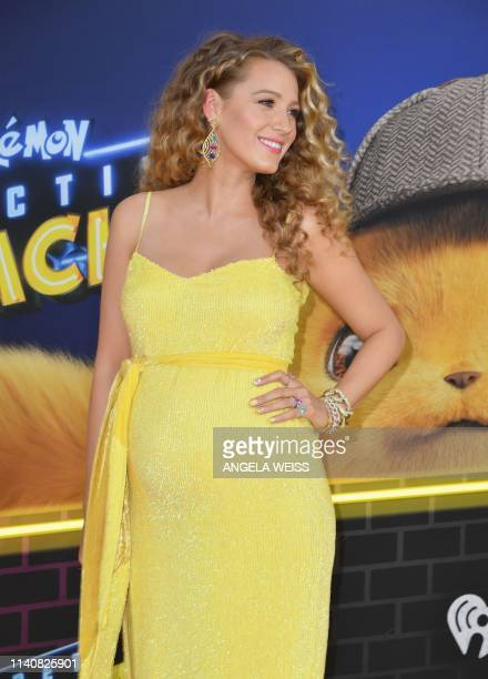 US actress Blake Lively attends the premiere of Pokemon Detective Pikachu at Military Island Times Square on May 02 2019 in New York City