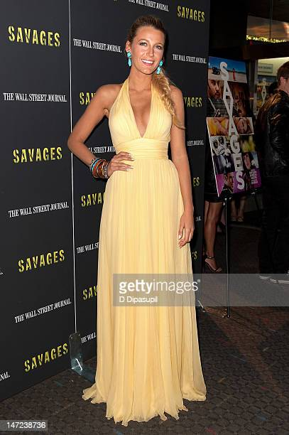 """Actress Blake Lively attends the """"Savages"""" New York Premiere at SVA Theater on June 27, 2012 in New York City."""