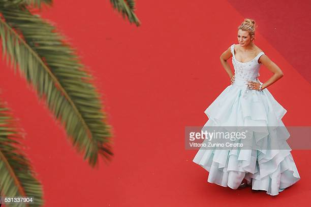 Actress Blake Lively attends the 'Slack Bay ' premiere during the 69th annual Cannes Film Festival at the Palais des Festivals on May 13 2016 in...