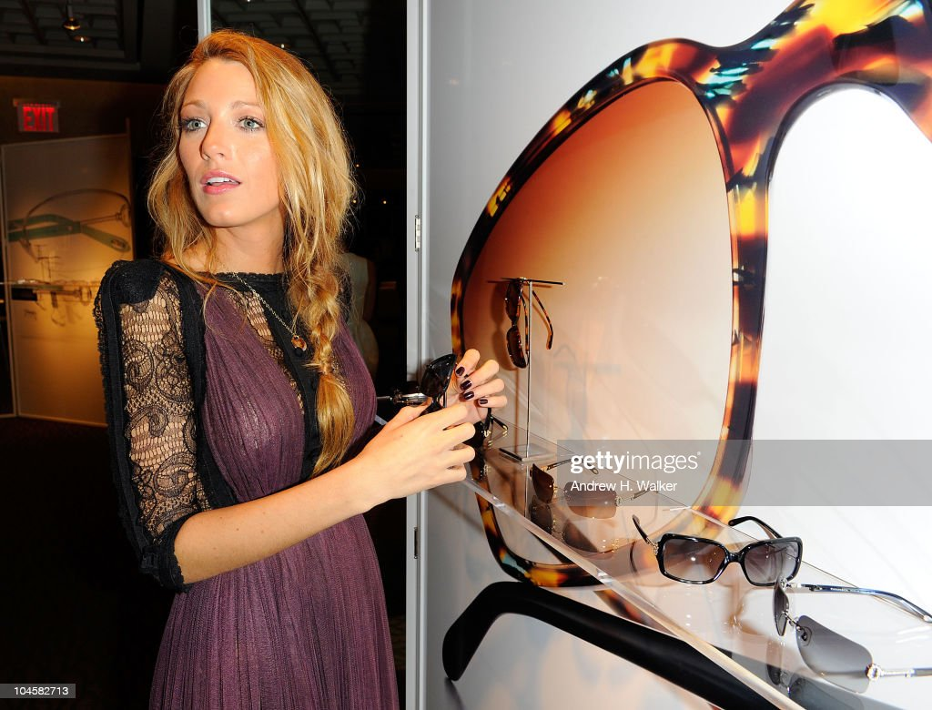 Actress Blake Lively attends the Spring 2011 Eyewear collection at Tiffany & Co. on September 30, 2010 in New York, City.