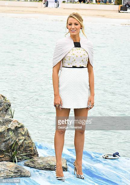 Actress Blake Lively attends the 'The Shallows' photocall at the annual 69th Cannes Film Festival at Palais des Festivals on May 13 2016 in Cannes...