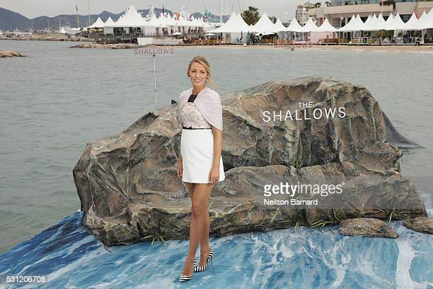 Actress Blake Lively attends the 'The Shallows' photocall during the 69th annual Cannes Film Festival at the Palais des Festivals on May 13 2016 in...
