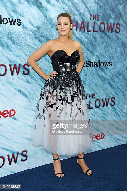Actress Blake Lively attends the 'The Shallows' world premiere at AMC Loews Lincoln Square on June 21 2016 in New York City