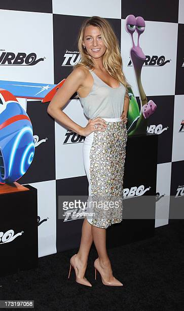 """Actress Blake Lively attends the """"Turbo"""" New York Premiere at AMC Loews Lincoln Square on July 9, 2013 in New York City."""
