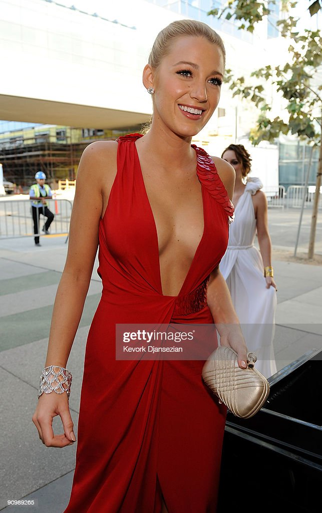 Actress Blake Lively backstage at the 61st Primetime Emmy Awards held at the Nokia Theatre on September 20, 2009 in Los Angeles, California.