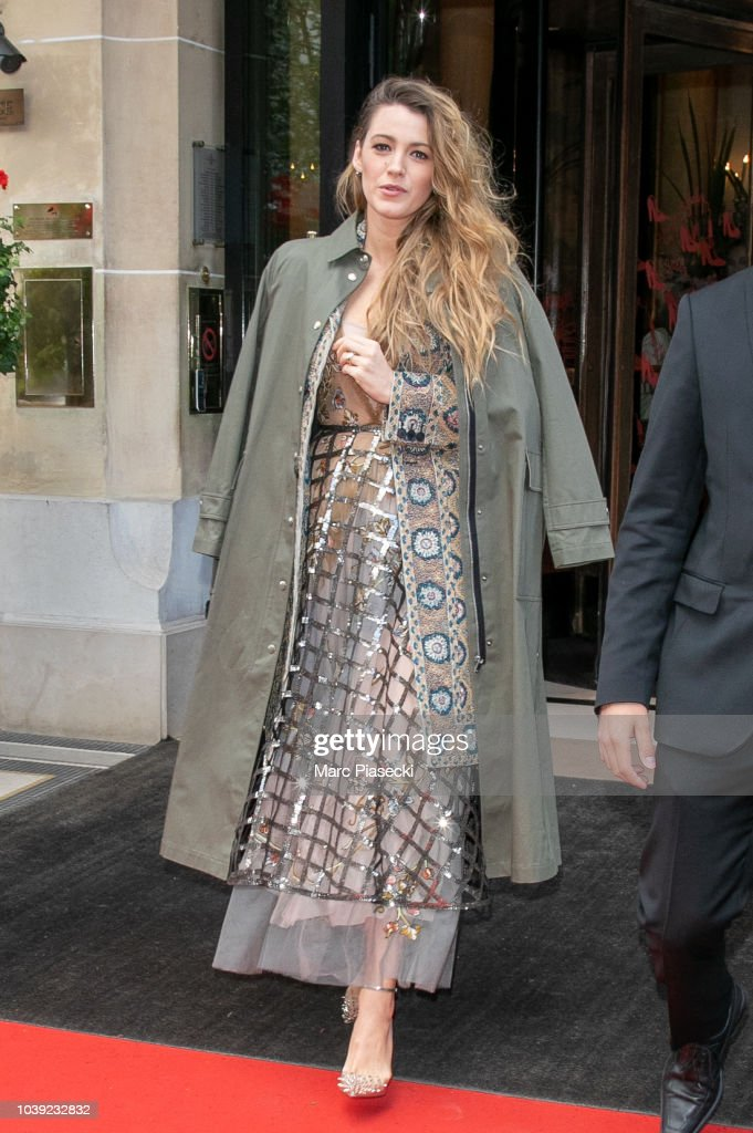 Celebrity Sightings In Paris - September 24, 2018