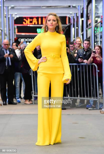 Actress Blake Lively is seen outside Good Morning America on October 16 2017 in New York City