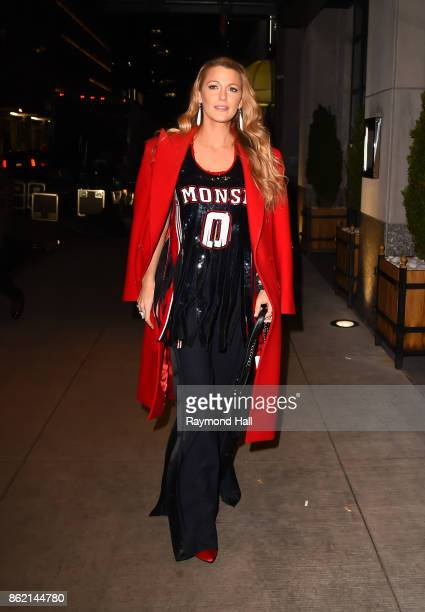 Actress Blake Lively is seen walking in Midtown on October 16 2017 in New York City