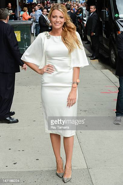 Actress Blake Lively leaves the Late Show With David Letterman taping at the Ed Sullivan Theater on June 26 2012 in New York City