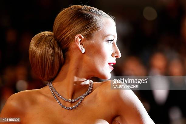 US actress Blake Lively poses as she arrives for the screening of the film Captives at the 67th edition of the Cannes Film Festival in Cannes...