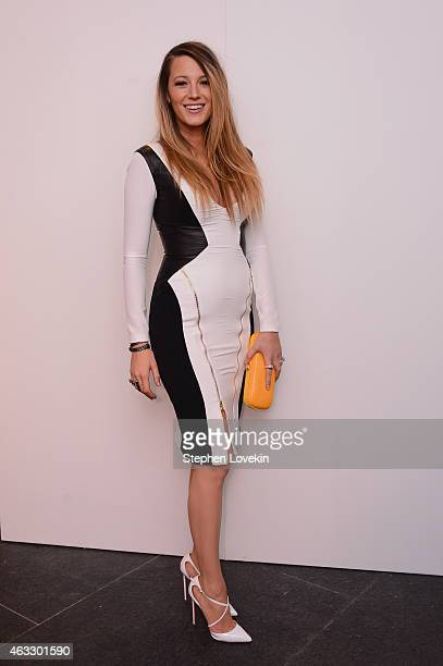 Actress Blake Lively poses backstage at the Gabriela Cadena fashion show during MercedesBenz Fashion Week Fall 2015 on February 12 2015 in New York...