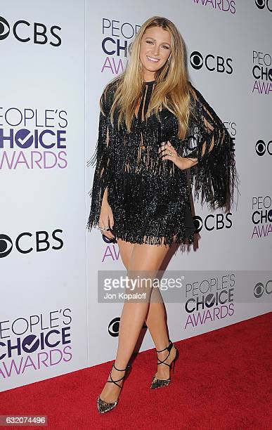Actress Blake Lively poses in the press room at the People's Choice Awards 2017 at Microsoft Theater on January 18, 2017 in Los Angeles, California.