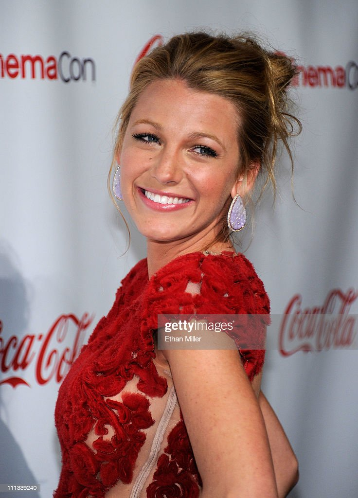 Actress Blake Lively, recipient of the Breakthrough Performer of the Year award, arrives at the CinemaCon awards ceremony at the Pure Nightclub at Caesars Palace during CinemaCon, the official convention of the National Association of Theatre Owners, March 31, 2011 in Las Vegas, Nevada.
