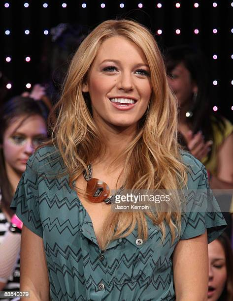 Actress Blake Lively visits MTV's TRL at MTV studios on August 4 2008 in New York City