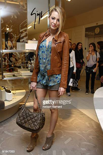 Actress Blake Lively visits Saks Fifth Avenue on October 9 2009 in New York City