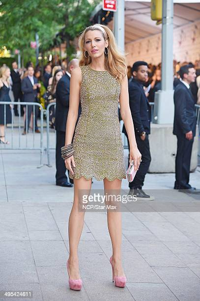 Actress Blake Livley is seen arriving at The 2014 CFDA Fashion Awards on June 2 2014 in New York City