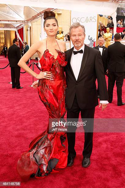 Actress Blanca Blanco and actor John Savage attend the 87th Annual Academy Awards at Hollywood Highland Center on February 22 2015 in Hollywood...