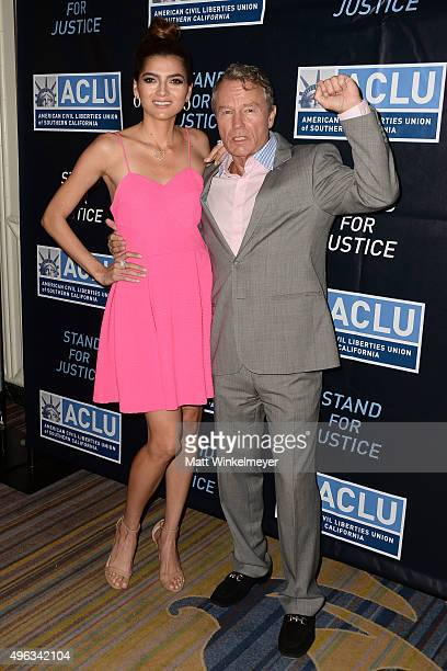 Actress Blanca Blanco and actor John Savage attend the ACLU SoCal hosts 2015 Bill of Rights Dinner at the Beverly Wilshire Four Seasons Hotel on...