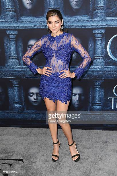 Actress Blanca Blanco arrives at the premiere of HBO's 'Game of Thrones' Season 6 at the TCL Chinese Theatre on April 10 2016 in Hollywood California