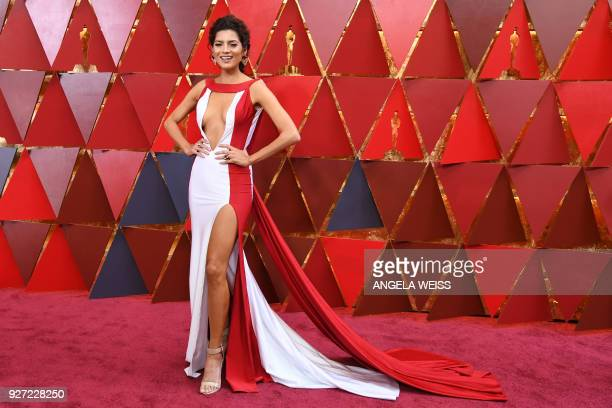 US actress Blanca Blanco arrives for the 90th Annual Academy Awards on March 4 in Hollywood California / AFP PHOTO / ANGELA WEISS
