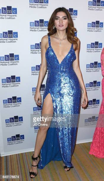 Actress Blanca Blanco attends the 20th Annual National Hispanic Media Coalition Impact Awards Gala at Regent Beverly Wilshire Hotel on February 24...