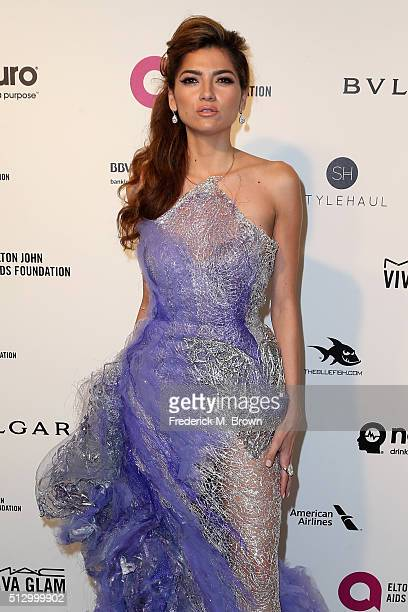 Actress Blanca Blanco attends the 24th Annual Elton John AIDS Foundation's Oscar Viewing Party on February 28 2016 in West Hollywood California