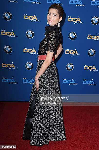 Actress Blanca Blanco attends the 68th Annual Directors Guild Of America Awards at the Hyatt Regency Century Plaza on February 6 2016 in Los Angeles...
