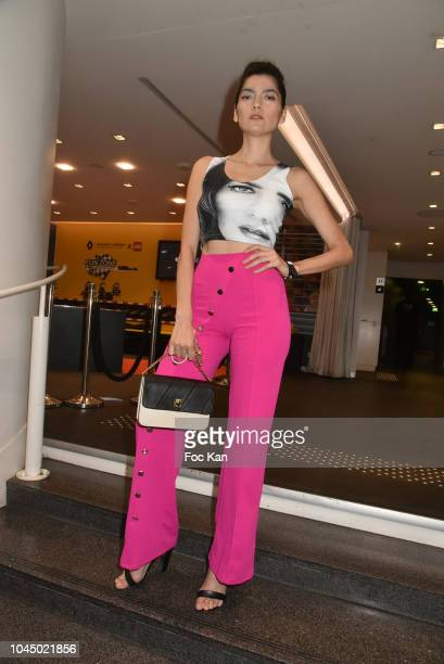 Actress Blanca Blanco attends the Christophe Guillarme show as part of the Paris Fashion Week Womenswear Spring/Summer 2019 on October 2 2018 in...