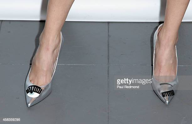Actress Blanca Blanco shoe detail attends Los Angeles Flagship Store Grand Opening at Galia Lahav on January 28 2016 in Los Angeles California