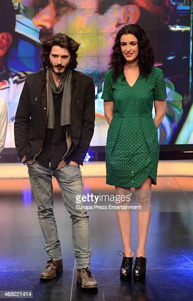 Actress Blanca Romero and actor Yon Gonzalez attend 'El Hormiguero' TV show on March 2 2015 in Madrid Spain