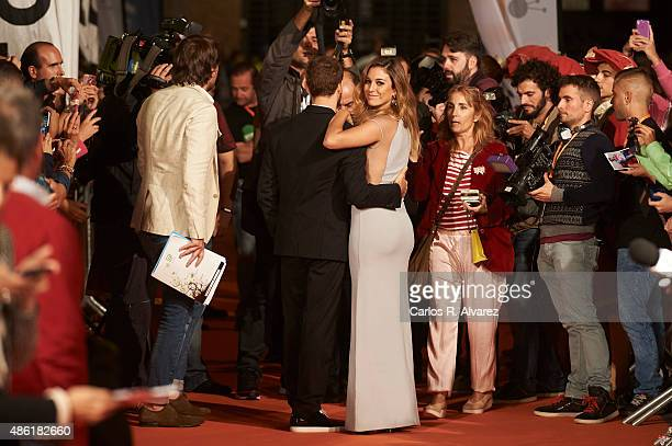 Actress Blanca Suarez and actor Alvaro Cervantes attend the Carlos Rey Emperador premiere during the 7th FesTVal Television Festival 2015 at the...
