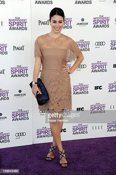 Actress Blanca Suarez arrives at the 2012 Film Independent Spirit Awards on February 25 2012 in Santa Monica California