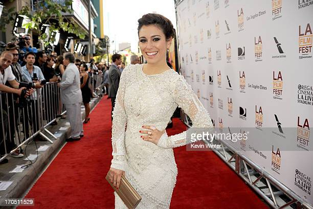 """Actress Blanca Suarez arrives at the premiere of Sony Pictures Classics """"I'm So Excited!"""" during the 2013 Los Angeles Film Festival at Regal Cinemas..."""