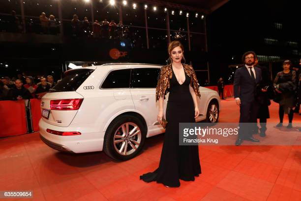 Actress Blanca Suarez arrives at the 'The Bar' premiere during the 67th Berlinale International Film Festival Berlin at Berlinale Palace on February...